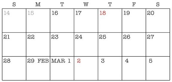 Doom Calendar